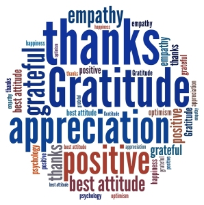Gratitude in word collage